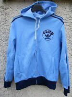 Veste à capuche CLUB ADIDAS vintage bleu tracktop jacket Ventex 80's TREFOIL XS