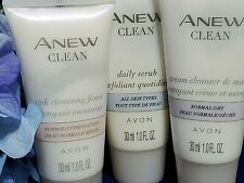 Avon Anew Clean Mask - Foam - Scrub Trio for Normal to All Skin Types New 1 oz.