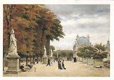 Stanislas Lapine The Luxembourg Gardens Postcard used VGC