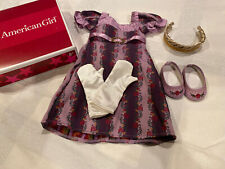 VHTF American Girl CAROLINE'S Purple Holiday Gown Outfit Christmas Ret With Box