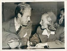 1942 Eyes of Love Actress Michele Morgan & 1st Husband William Press Photo