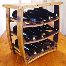 Table Top Wine Barrel Wine Rack Rustic Furniture 12 Bottle Handmade Home Decor