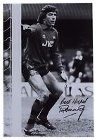 Pat Jennings SIGNED 12x8 Photo Autograph Arsenal Football Memorabilia AFTAL COA