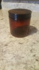 8oz PET Plastic Amber Containers Jars w/ Lined Cap lot of 5!