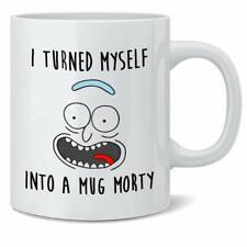 Rick y Morty Taza Crazy Gato Morty Blanco