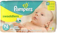 Pampers Swaddlers Jumbo Pack Diapers, Size N 32 ea (Pack of 7)