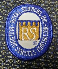ROYAL SERVICES INC. BUILDING SERVICES CONTRACTOR Sew-On Patch