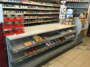 Ladeneinrichtung Zigarettenregal + Tresen + Zeitungsregale Kiosk Späti Tego Eden