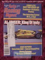 AUTO RACING DIGEST October November 1987 AL UNSER INDY 500 Roberto Guerrero