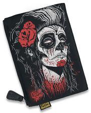 Liquor Brand Cosmetic Bag Dead Girl Makeup Purse Rockabilly Punk Horror Goth