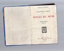 manuale del notaio - alessandro garetti - edizione hoepli - may vttyttsmo