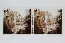 Espagne Montserrat Plaque de verre Stéréo Stereoview Vintage