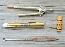 Pen Flashlight, Shoe Hook, Compass Pencil, Leads, Misc Advertising Lot Vintage