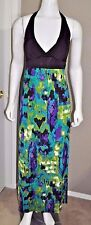 WET SEAL MAXI HALTER DRESS WOMEN'S STRETCH SIZE SMALL