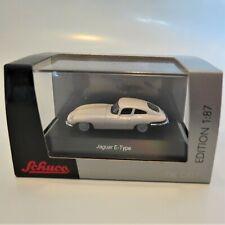 1961 Jaguar E-Type Coupe, white, Schuco 1:87 Edition Diecast 452627400 NIB