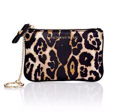 Victoria's Secret LEOPARD Mini Coin Purse Cosmetic / Makeup Bag Case Key