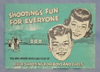 """1959 Book """"Shooting's Fun For Everyone"""" Rifle Shooting For Boys & Girls 20-page"""