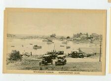 Vintage Postcard Wychmere Harbor Harwichport Massachusetts Boats Model T Cars