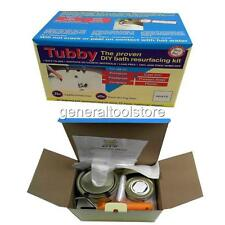 TUBBY DIY WHITE ENAMEL RESURFACING KIT BATH SINK TILE BOAT FRIDGE HOT TUB JACUZZ