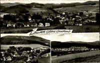 Eslohe 1966 Sauerland Mehrbildkarte Panorama Dorf Wald Landschaft Berge Häuser