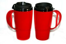 2 New Foam Insulated 16oz ThermoServ Travel Mugs Red