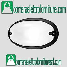 Plafoniera applique parete esterno design PRISMA CHIP OVALE 25 nero E27 005702