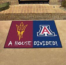 Arizona Wildcats - Arizona State Sun Devils House Divided All Star Area Rug Mat