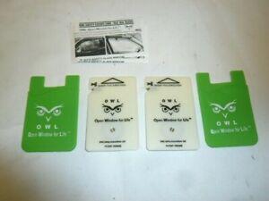 2 OWL Car Window Breaker & Seatbelt Cutter Card Auto Crash Emergency Escape Tool