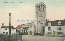 Oxfordshire Eynsham Church & Cross Vintage Postcard