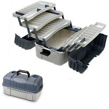 Fishing Tackle Box Storage Case 7 Tray Hooks Lure Gear Organizer Hip Roof Plano