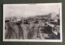 CPSM. FLERS. 61 - La Gare. Vue du Pont de la Rue Schnetz. 1943. Trains.