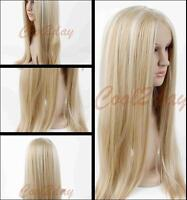Fashion Women Resistant Synthetic Hair Platinum Blonde Long Straight Heat Wig