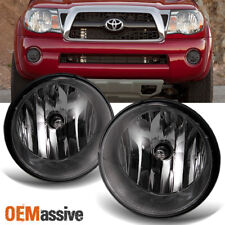 Smoked Fits 2005-2011 Toyota Tacoma Bumper Fog Lights Lamps w/Bulb/Switch LH+RH