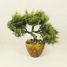 Bonsai Tree in Ceramic Pot, Artificial Plant Decoration for Office and Home 28cm