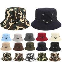 Unisex Bucket Hat Boonie Hunting Fishing Outdoor Cap Wide Brim Military Sun Camo