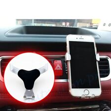 Car Mobile Phone Support Holder Cradle Stand Adjust Air Vent Mount Silver Style