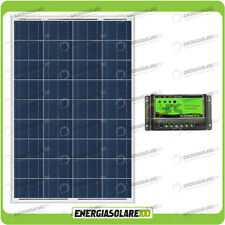 Kit Solare Fotovoltaico 100W 12V Mantenimento batteria auto, camper, nautica
