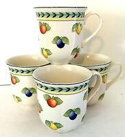 "Villeroy & Boch French Garden Fleurence SET of 4 Coffee Mugs 3.5""H EUC"