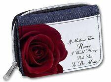 'If Mothers Were Roses' Sentiment Girls/Ladies Denim Purse Wallet Chris, MUM-1JW