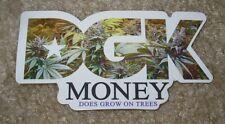 DGK Logo Skate Sticker MONEY DOES GROWN ON TREES skateboards helmets decal