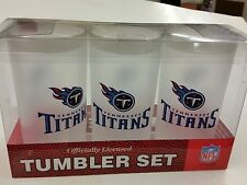 NFL 3 Piece Tumbler Set, Tennessee Titans, NEW