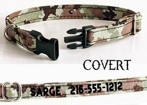 Personalized Cat Collar Safety Breakaway Buckle Adjustable Cotton Camo Kitty