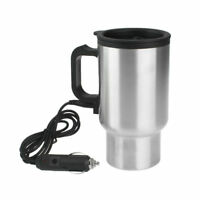 Heated 12V 450ml Stainless Steel Travel Heating Cup Coffee Tea Auto Car Cup Mug