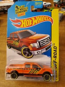 2014 Hot Wheels Orange 2009 Ford F-150  Hw Off Road Bad Card