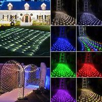 100/300 LED Net Mesh Light Xmas Party Wedding Fairy Garden String Light 220/110V