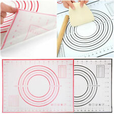 Silicone Non-stick Roll Pad Cake Dough Baking Mat Pastry Clay Fondant 4 SIzes