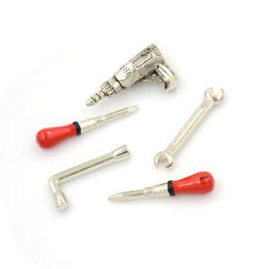 5pcs 1:12 Scale Miniature Metal Hand Tools Set Dolls House Accessories NWRI
