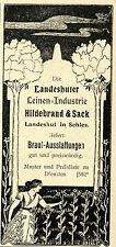 Novia-las instrumentaciones hildebrand & sacos Landeshut/s. histórica publicitarias de 1900