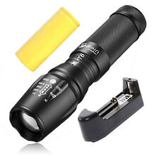 UltraFire 10000LM CREE XM-L T6 LED Zoomable Focus Flashlight Torch+26650+Charger