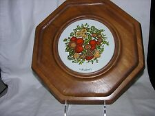 Vintage Goodwood Teak Wood Octagon Cheese Tray Board Serving Platter 1960's